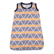 Bacati - Liam Aztec Orange/Navy Large Triangles 100% Cotton breathable Muslin Wearable Blanket , Small