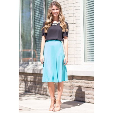 Who Runs The World Skirt Jade Small in 87% Polyester 13% Spandex - Schoolgirl In Skirt