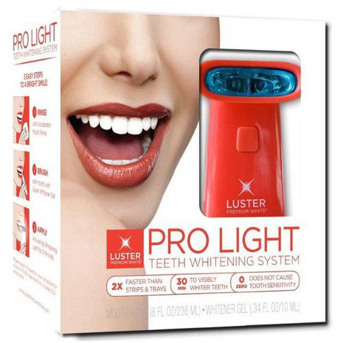 Luster Premium White Pro Light Teeth Whitening System, 2 pc