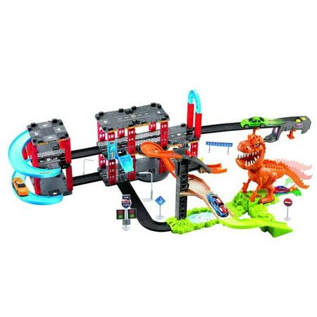 DINOSAUR TRACK CAR ORBITAL SLOT TOY CAR W/ENGLISH IC Mundo Toys