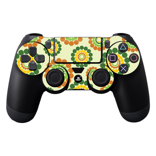 Protective Vinyl Skin Decal Cover for Sony PlayStation DualShock 4 Controller wrap sticker skins Flower Power