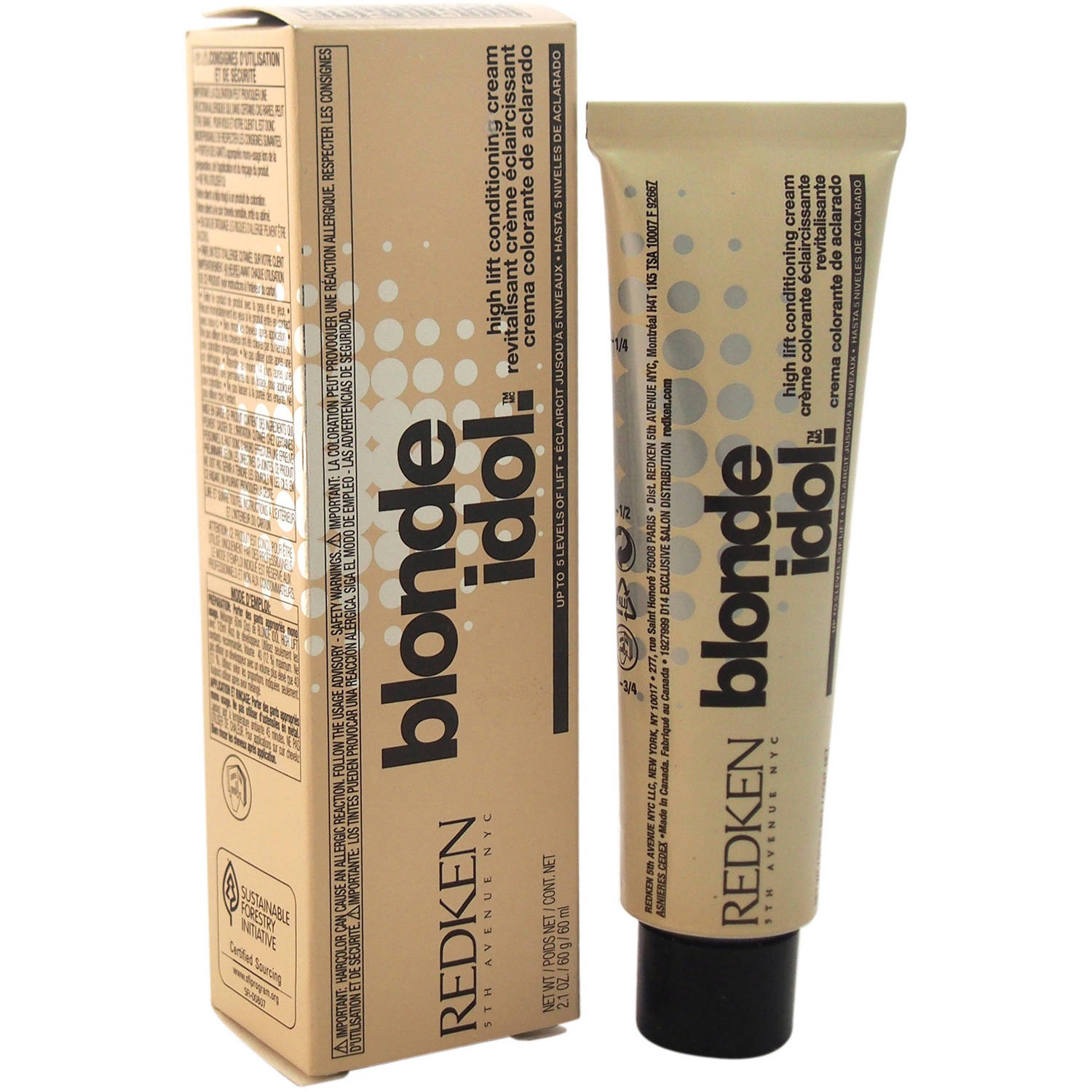 Blonde Idol High Lift Conditioning Cream Base - 3-5t/Titanium by Redken for Unisex, 2.1 oz