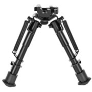 CVLIFE 6-9 Inches Tactical Rifle Bipod Adjustable Spring Return Quick Release Adapter