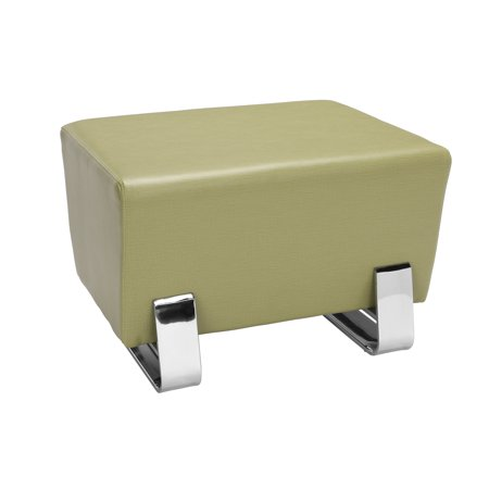 - OFM Axis Series Model 4001C Contemporary Single Seating Bench, Textured Vinyl with Chrome Base, Leaf