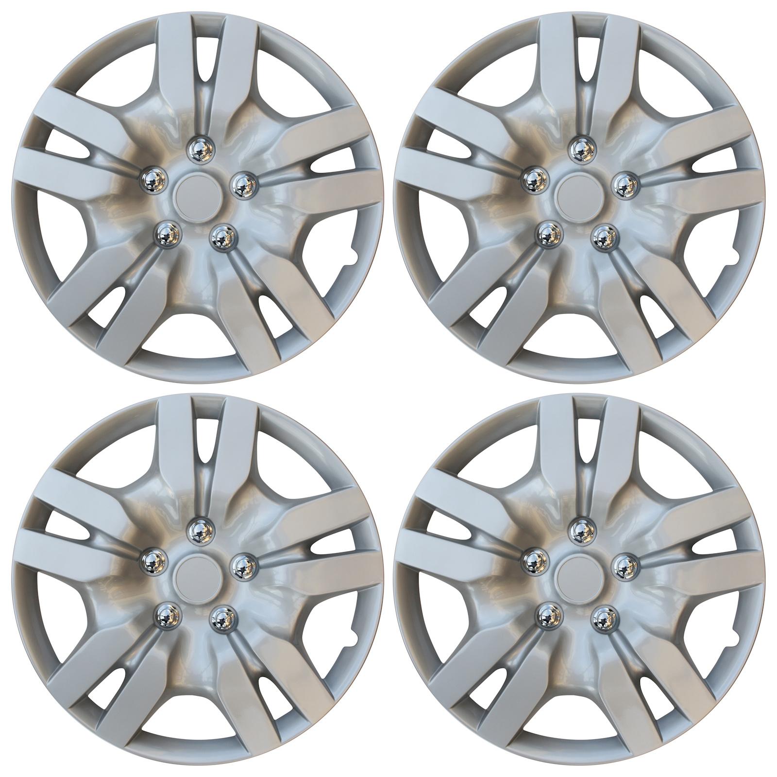 "4 Piece Set of Aftermarket Wheel Cover 16"" fits Nissan Altima Replica Hub Cap Hubcaps"