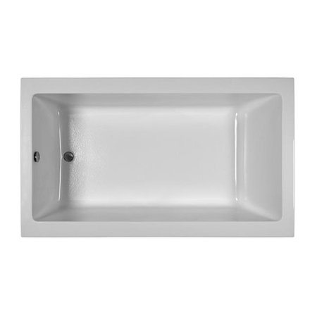 Integral Skirted End Drain Air Bath, Biscuit - 72 x 42 x 21 in. - Right Hand