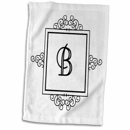 Symple Stuff Hengrove Letter B Personal Monogrammed Fancy and Typography Elegant Hand Towel (Cheap Monogram Stuff)