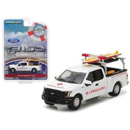 1 isto 64 2016 Ford F-150 with Lifeguard Accessories Diecast Model