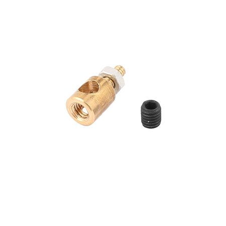 5mmx3.0mm Metal RC Airplane Stopper Servo Connectors with Screws (Black Diamond Stopper Nuts)