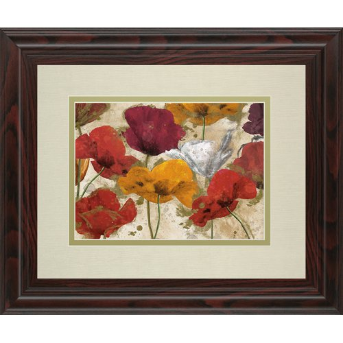Classy Art Wholesalers Happy Flowers by Katrina Craven Framed Painting Print by Classy Art Wholesalers