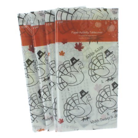 Thanksgiving Party Supplies (Thanksgiving Party Kid Activity Tablecover 54 x 88 Lot of 4 Coloring Maze)