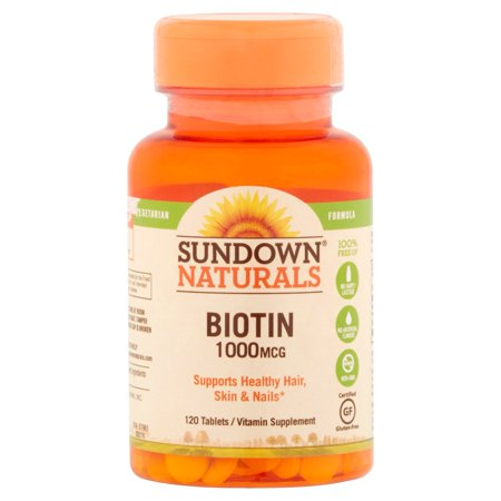 Sundown Naturals Suractivé Biotine comprimés de vitamine supplément, 1000mcg, 120 count