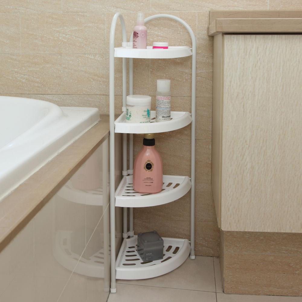 Zimtown 4 Tier Corner Bath Caddy Rack Holder Shelf Shower Storage Bathroom Organizer by