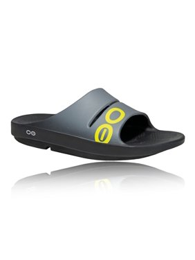 21fff032f57 Product Image Oofos 1500BLKGRA  Mens Ooahh Sport Black Graphite Sandals