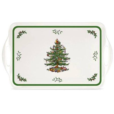 Spode Christmas Tree Melamine Serving Tray with Handles, 19-1/4-Inch ()