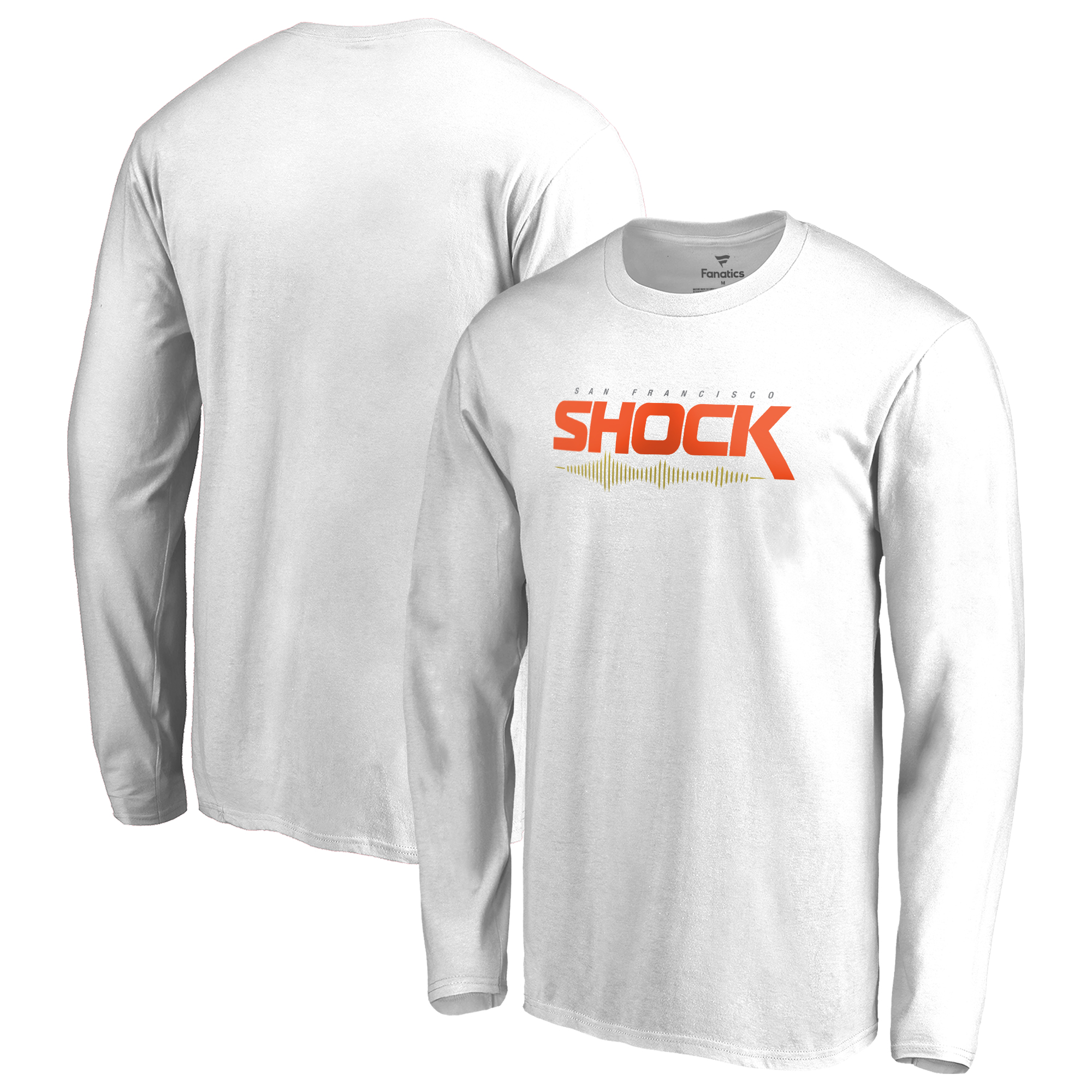 San Francisco Shock Fanatics Branded Team Identity Long Sleeve T-Shirt - White