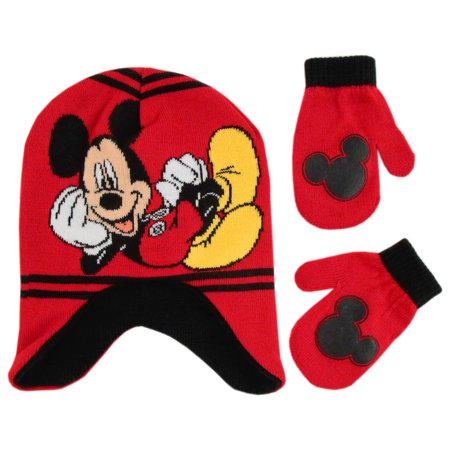 9cbeb9132cf Disney - Disney Mickey Clubhouse Hat and Mittens Cold Weather Set ...