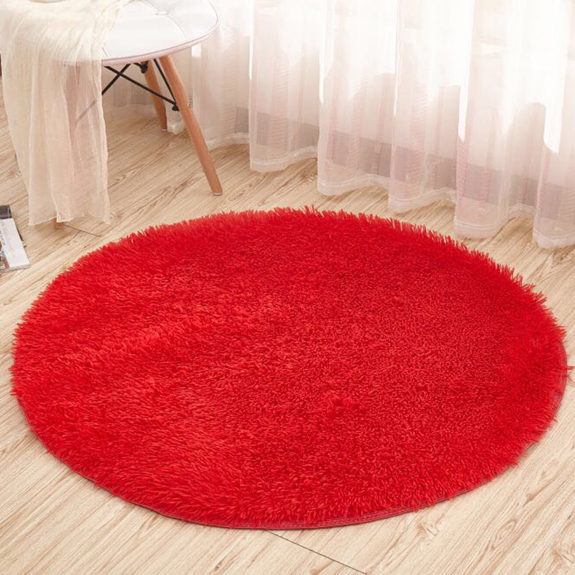 Picture of: Dodoing Super Soft Round Area Rugs For Bedroom Kids Rooms Living Room Playroom Fluffy Boys Girls Baby Kids Children Rugs For Bedroom Home Nursery D Cor Carpet For Women Pink Red Blue White