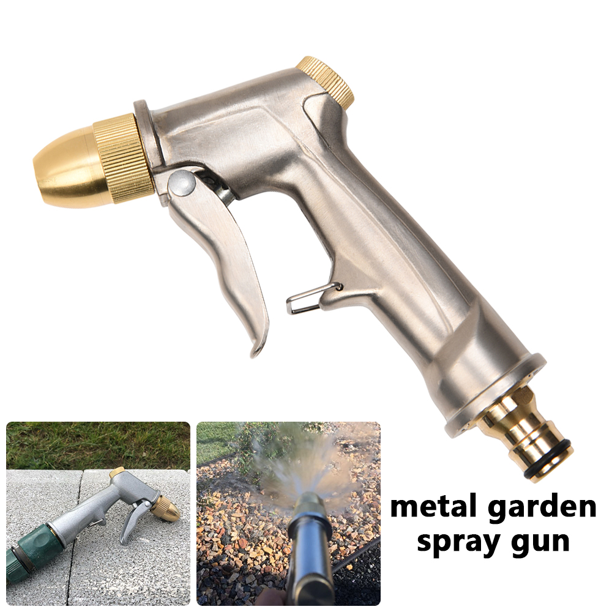 Metal Hose Nozzle High Pressure Water Spray Pipe Sprayer Garden Auto Car Washing