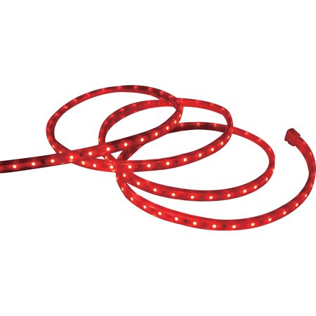 Holiday Time Christmas Lights Red Led Tape Light 240 Count 19 6 White Wire