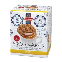 Daelmans Dutch HONEY Stroopwafel Wafers Jumbo Size CUBE 10.23 Oz ((Pack of 2)