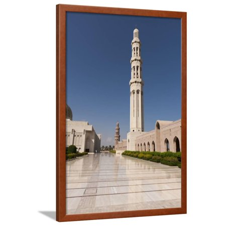 Sultan Qaboos Grand Mosque in Muscat Framed Print Wall Art By Sergio Pitamitz