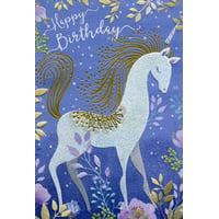 Pictura Nighttime Unicorn Sanja Rescek Feminine Birthday Card for Her / Woman