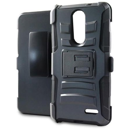 Phone Case For Zte Blade Spark 4G At T Prepaid Smartphone  Zte Grand X4  Cricket Wireless  Case  Dual Layer Holster Belt Clip Cover Case With Kickstand  Black