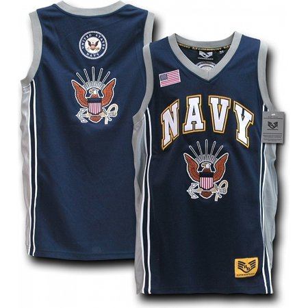 RapDom US Navy Eagle Logo Mens Basketball Jersey [Navy Blue - M]