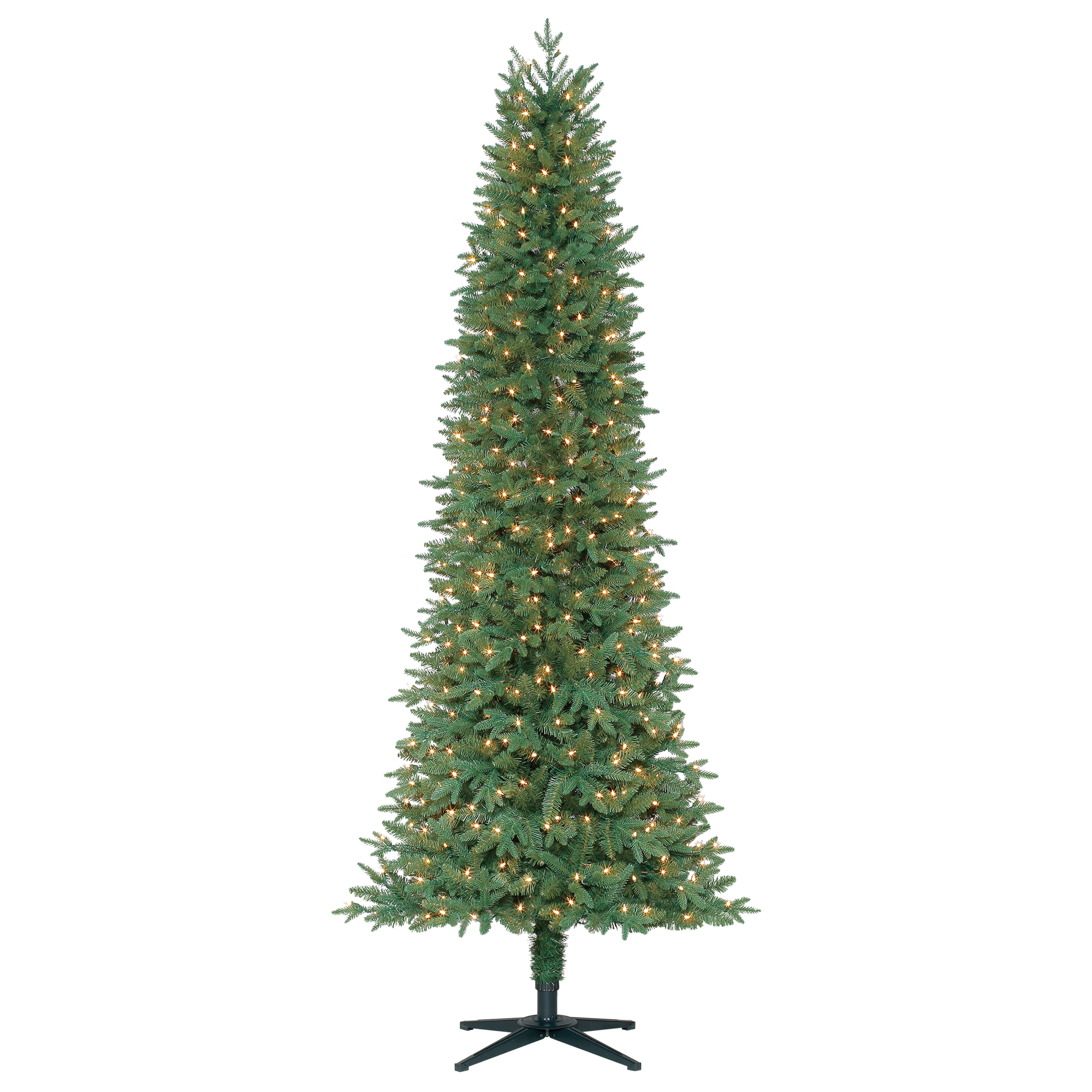 Holiday Time 7.5 ft Pre-Lit Sanford Fir Artificial Christmas Tree with 450 Clear-Lights - Green