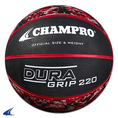 Champro Dura-Grip Official Size Basketball - Charcoal