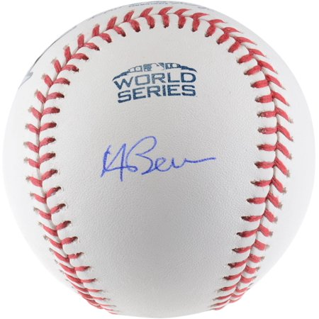 Andrew Benintendi Boston Red Sox Autographed 2018 World Series Logo Baseball - Fanatics Authentic Certified