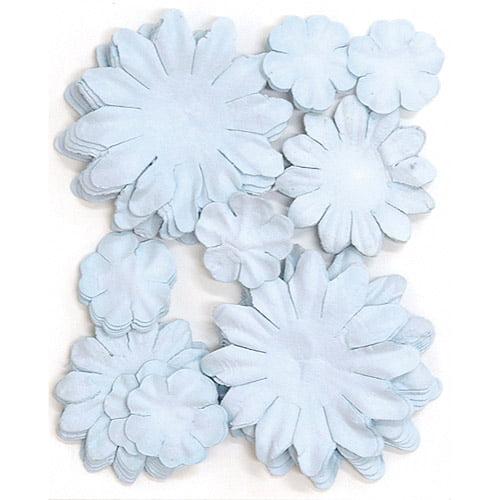Paper Flowers, 2cm, 3.5cm, 5cm Assorted, 60pk