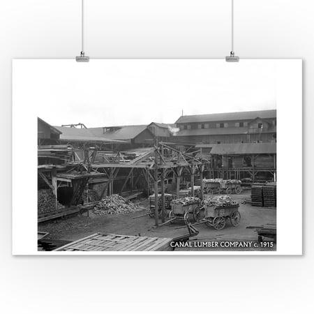 Ballard - Seattle, WA - Canal Lumber Company (9x12 Art Print, Wall Decor Travel (2227 N 56th St Seattle Wa 98103)