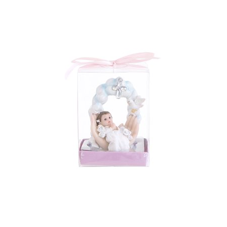 Awesome Halloween Party Decoration Ideas (Mega Favors Keepsake Figurine 12 pcs Baby Girl Laying on Palm Praying With Cross And Dove | Awesome Decorations or Party Favors | for Baptism, First Communion, Religious and Special)