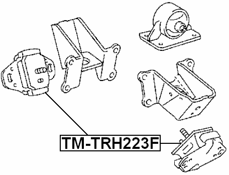Febest Tm Trh223f Front Engine Mount Daihatsu Yrv M200m211 2000