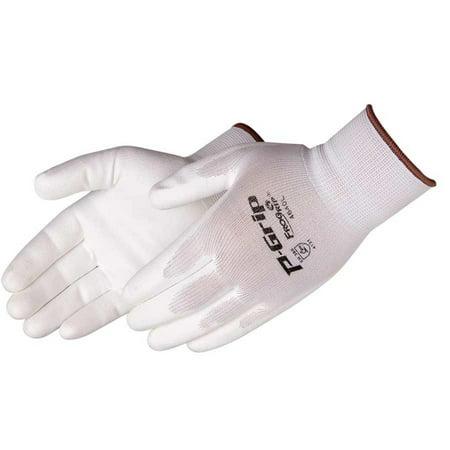 P-Grip® Frogrip Ultra-Thin Polyurethane Palm Coated Nylon Gloves, 13-gauge, White, SM, 12/pairs