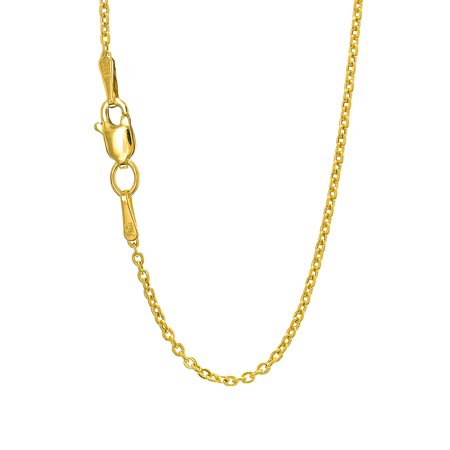 14k Gold Yellow Or White 1.9mm Forsantina Chain Necklace, Lobster Claw -16
