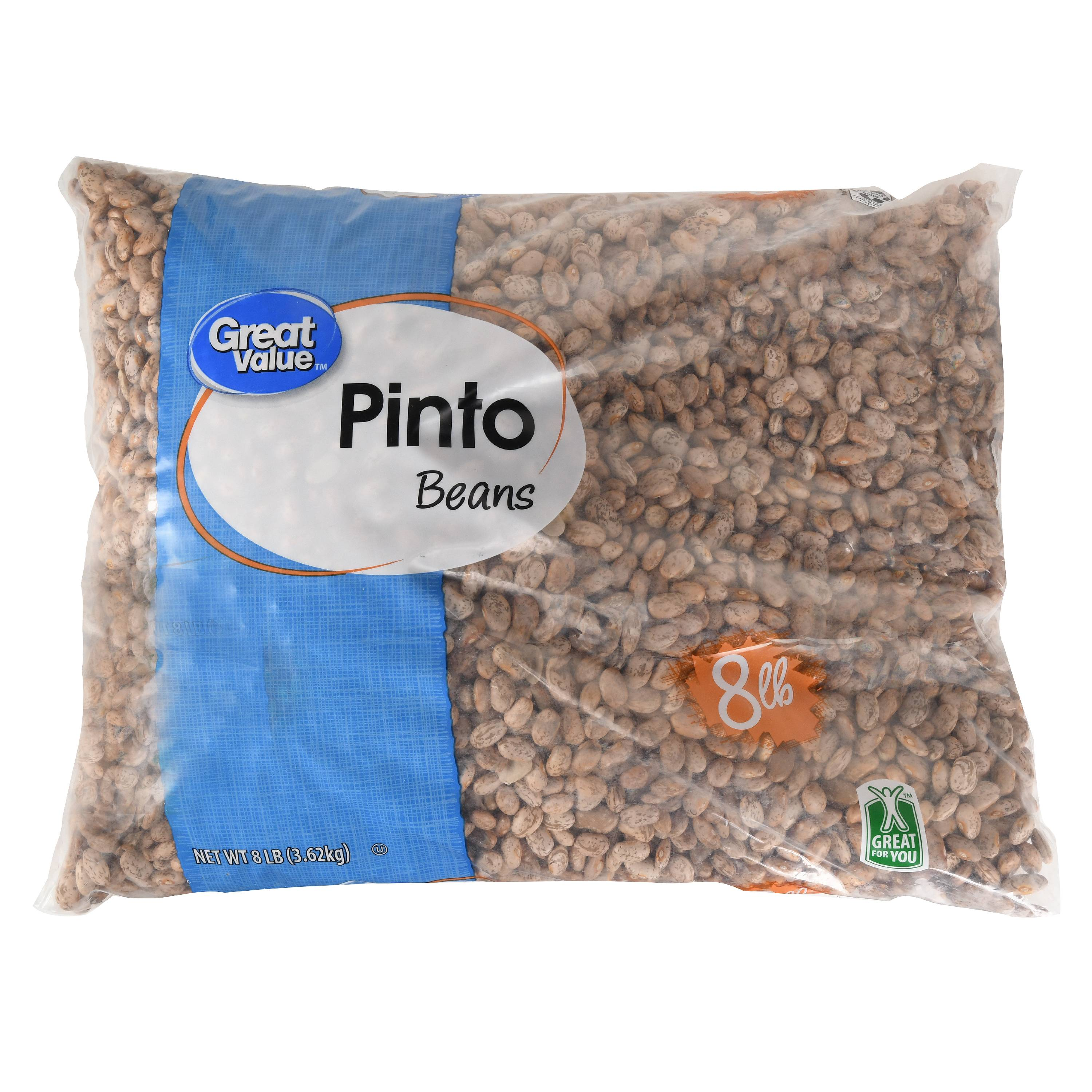 Great Value Pinto Beans, 8 lb