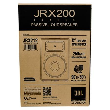 (2) JBL JRX212 1000w 12