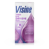 Visine Tired Eye Dry Eye Relief Eye Drops, 0.5 fl. oz