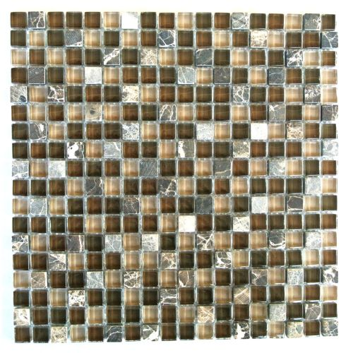 "Miseno MT-EARTH5/8SQ Earth - 5/8"" X 5/8"" - Glass Visual - Wall Tile (Sold by Sheet)"