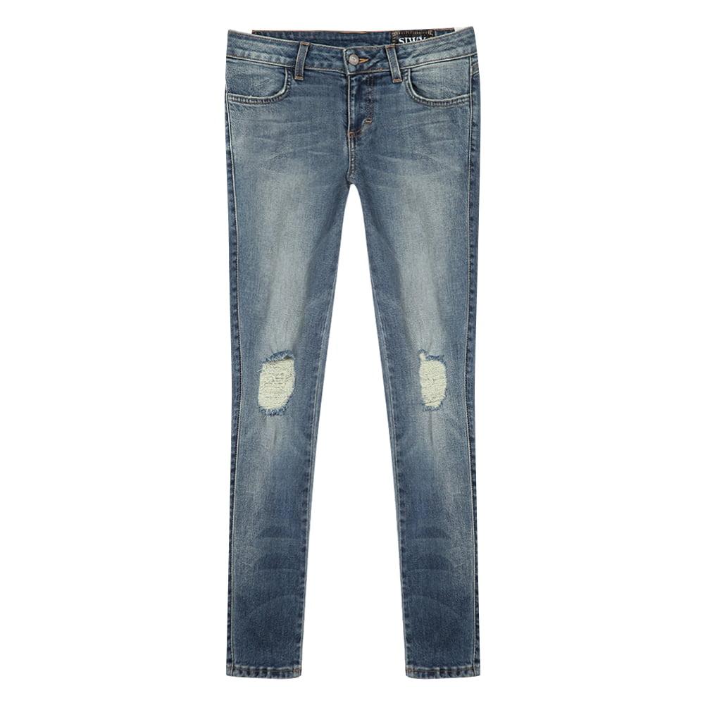 Siwy Women's Hannah Skinny Jeans W100CRK1-CAC Cactus SZ 26