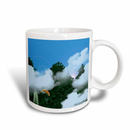 3dRose Paragliding the Andes, Ceramic Mug, -