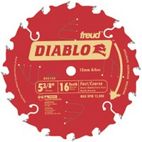 Freud D0516X Diablo 5-3/8-Inch 16 Tooth Atb Fast Cutting Cordless Trim Saw Bl