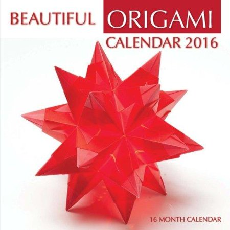 Beautiful Origami Calendar 2016  16 Month Calendar