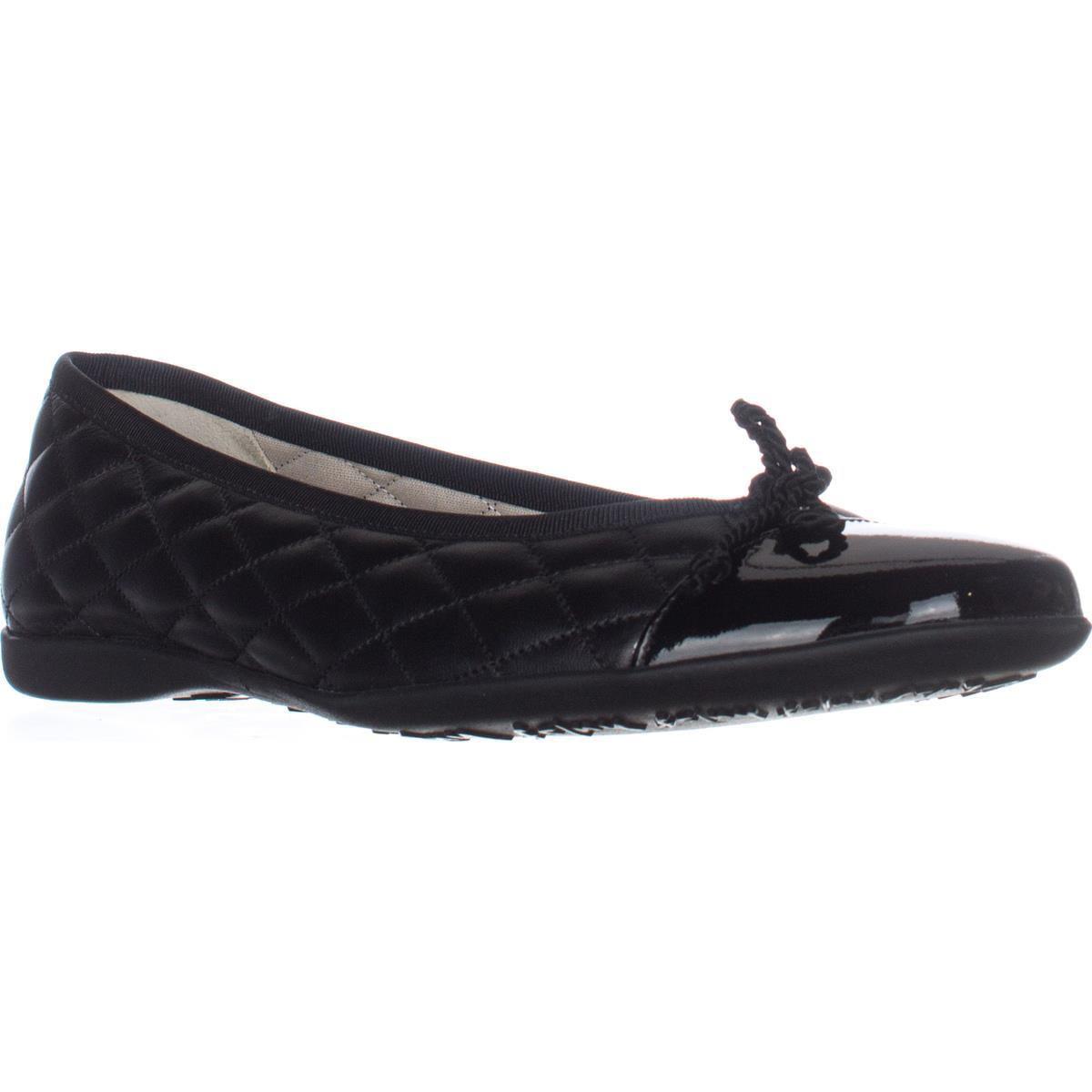 Womens French Sole FS/NY Passport Ballet Flats - Black Pa...