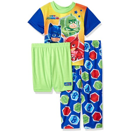 c5d9d09272980 Pj Mask - PJ Masks Character Boys' 3-Piece Pajama Set Disney Junior TV -  Walmart.com