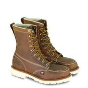 "Thorogood American Heritage 8"" Moc Toe MAXWear 90 Safety Toe Boot, Trail Crazyhorse - 7 2E US"