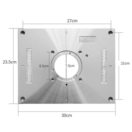 Multifunctional Aluminum Alloy Router Table Insert Plate Trimmer Engraving  Machine Tool Woodworking Bench